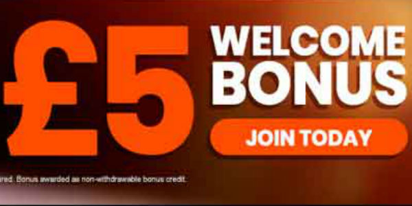 £5 Free Welcome Bonus banner