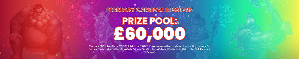 £60000 Prize Pool banner long