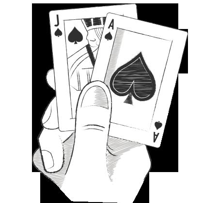 blackjack hand image