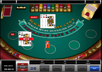 Blackjack table photo