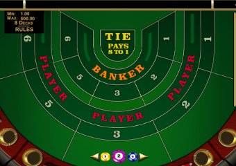 High limit baccarat table