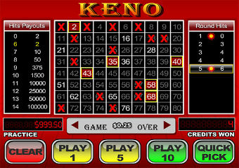 PLAY KENO FOR FUN
