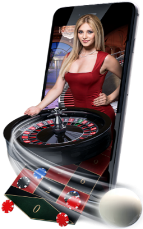 Girl and rooulette wheel image