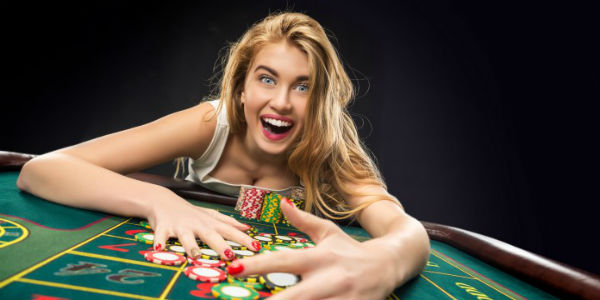Girl wins at roulette photo