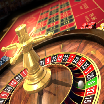Roulette wheel gold picture