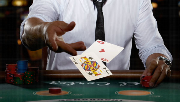 Man with cards image