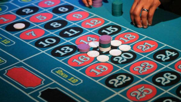 Craps blue table