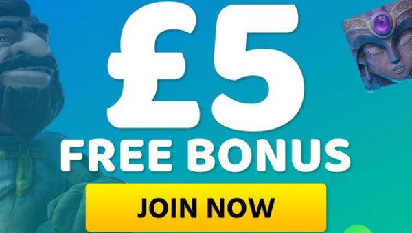 £5 Free bonus banner