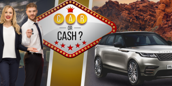 Car or cash promo banner