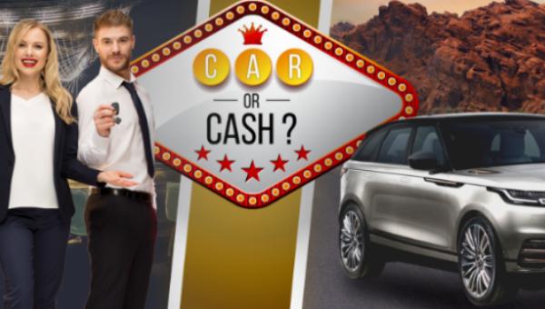 Car or cash promo banner