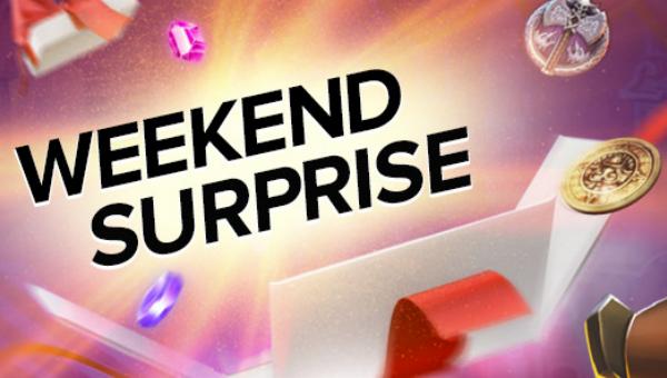 Weekend surprize banner