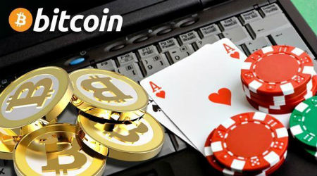 Bitcoin in gambling image